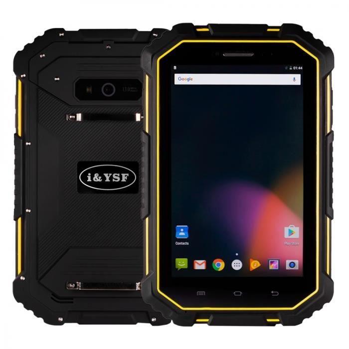 Pack Accessoires Android Tablet Phablette 4Gc, Android, Antichoc étanche, 7 Pouces, 2Gb+16Gb, Jaune