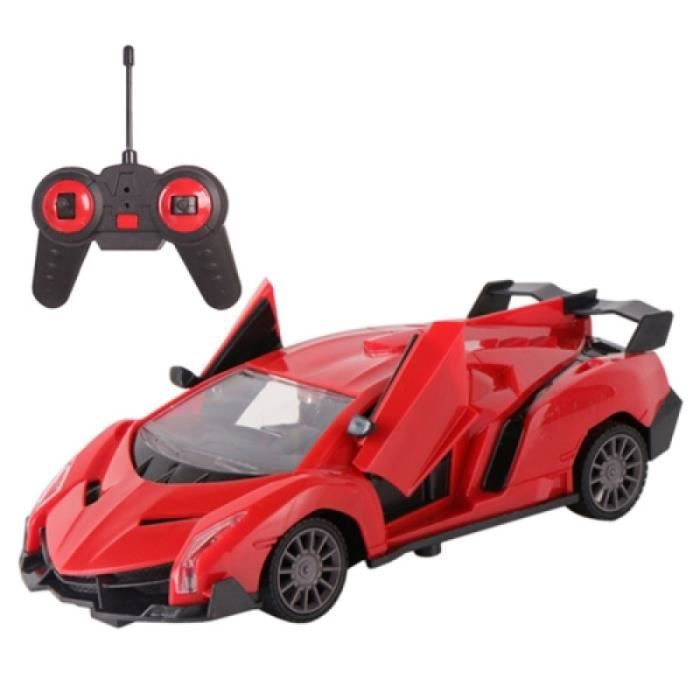 Vehicule A Construire - Engin Terrestre A Construire - MoFun 86924A 1:24 Télécommande Racing Drift Sport Car RC Toy (Rouge)