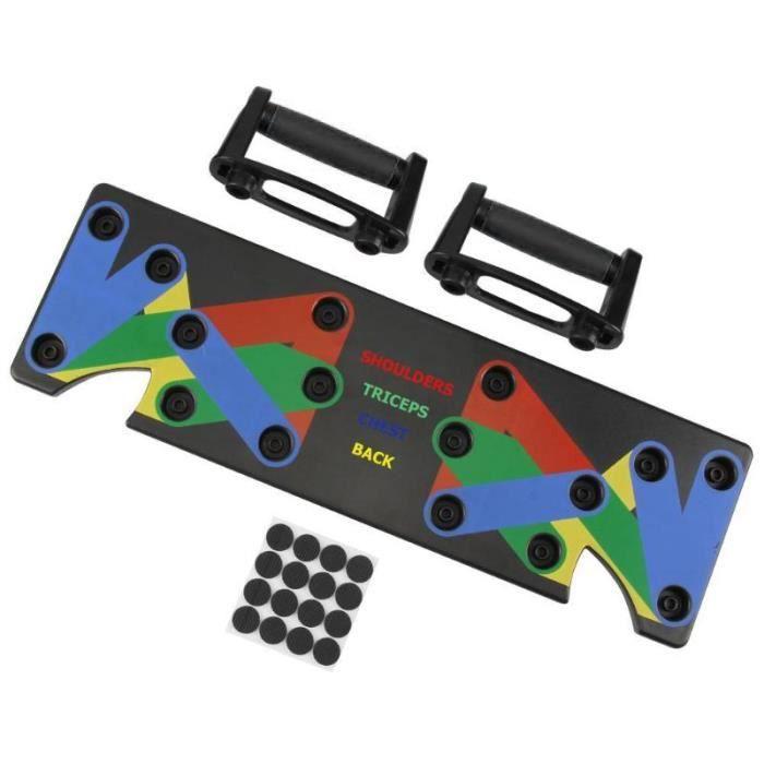 9 en 1 Push Up Rack Board système Fitness entraînement Train Gym exercices Stands - Modèle: Rouge - HSJSZHA10045