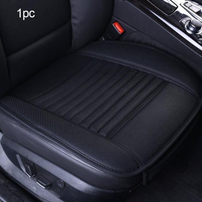 Housses de siège de voiture universelles en cuir, couvre siège avant et arrière, couvre siège pour véh Front Black line 1pc