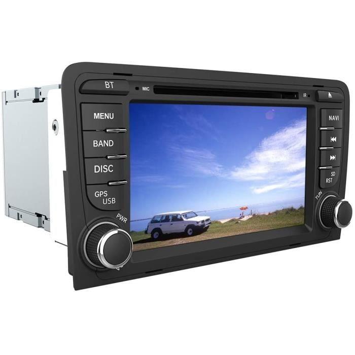 AWESAFE Autoradio 2 Din pour Audi A3-S3-RS3 8P avec Système Wince 6.0,Lecture CD-DVD GPS Navigation avec 7- Écran Tactile HD-Com21
