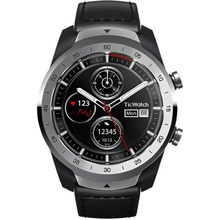 Ticwatch Pro Smartwatch, capteur de fréquence cardiaque, Android Wear, GPS, NFC