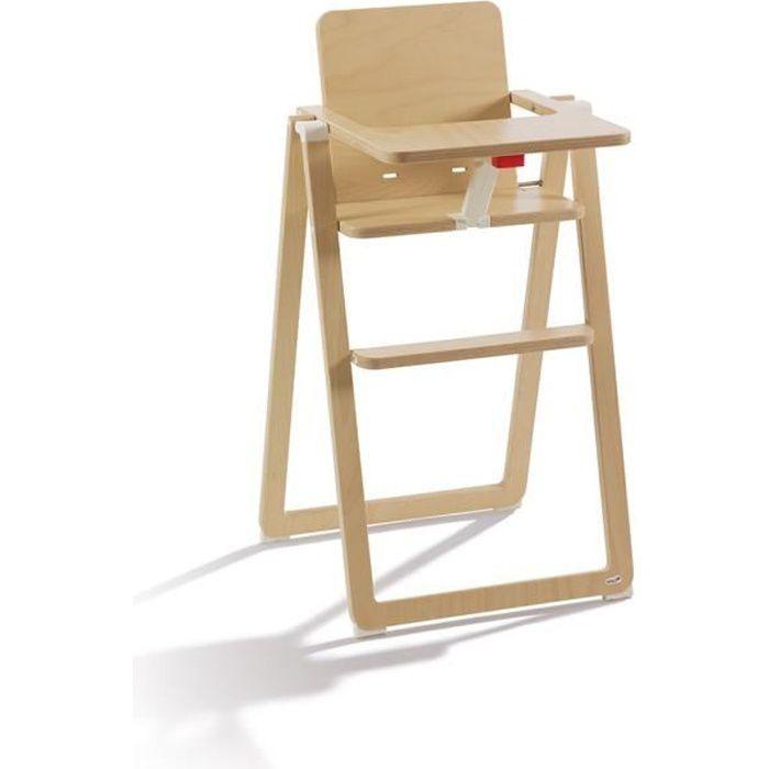 SUPAFLAT chaise haute en bois - ultra compacte - nature