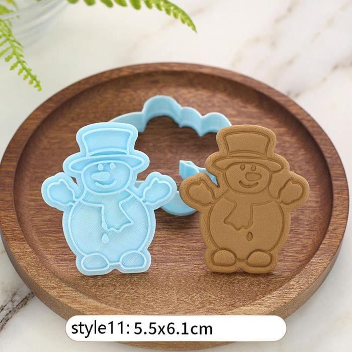 Moule à gateaux,Emporte pièce de noël découpeurs Fondant gâteau moule Biscuit Sugarcraft gâteau décoration outils - Type 11 #B