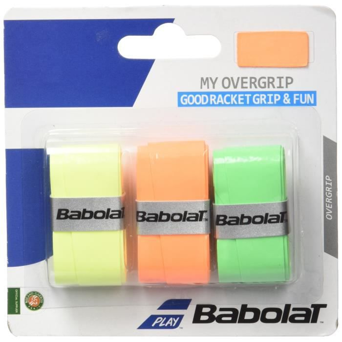 Babolat - My Over Grip Fluo - Surgrip Raquette de Tennis - Noir - Taille Unique