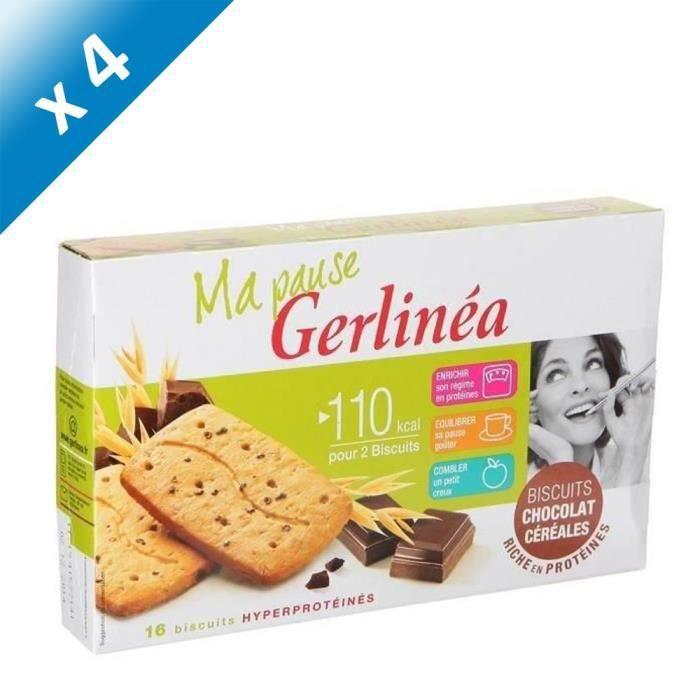 [LOT DE 4] GERLINEA Biscuits Chocolat Céréales - 200 g
