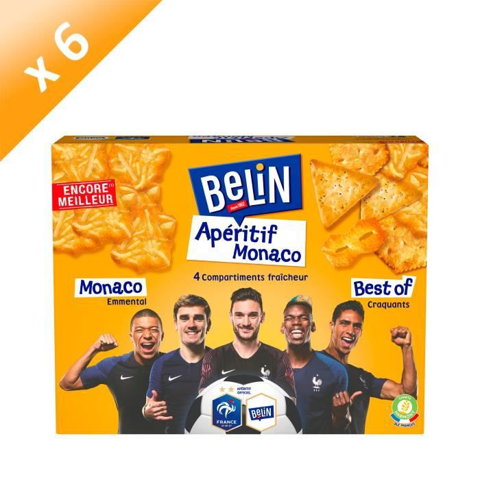 [LOT DE 6] Belin Crackers Assortiment Apéritif Monaco 340g