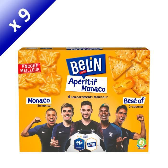 [LOT DE 9] Belin Crackers Assortiment Apéritif Monaco 340g