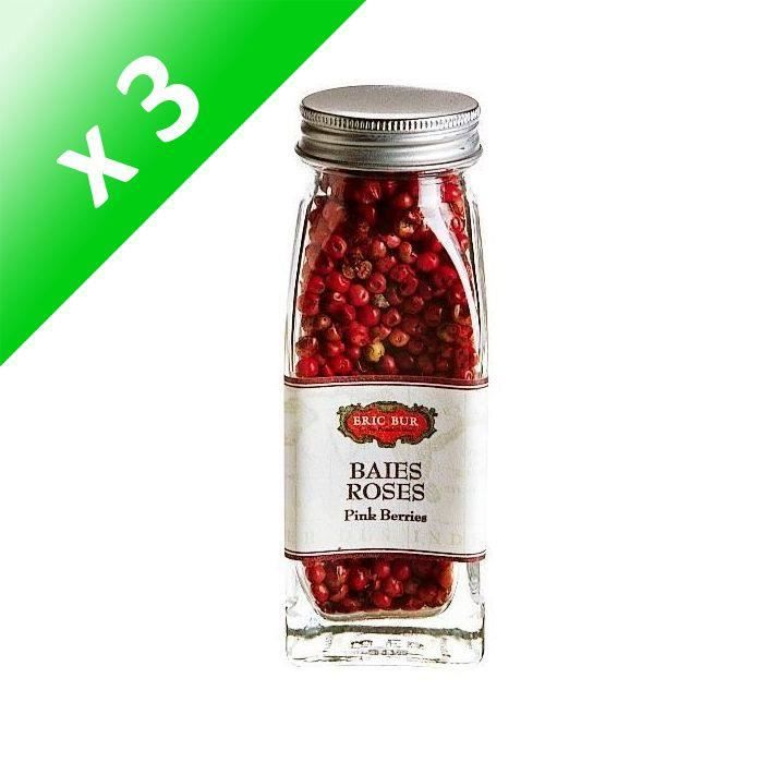[LOT DE 3] ERIC BUR Epices Baies Roses - 22g