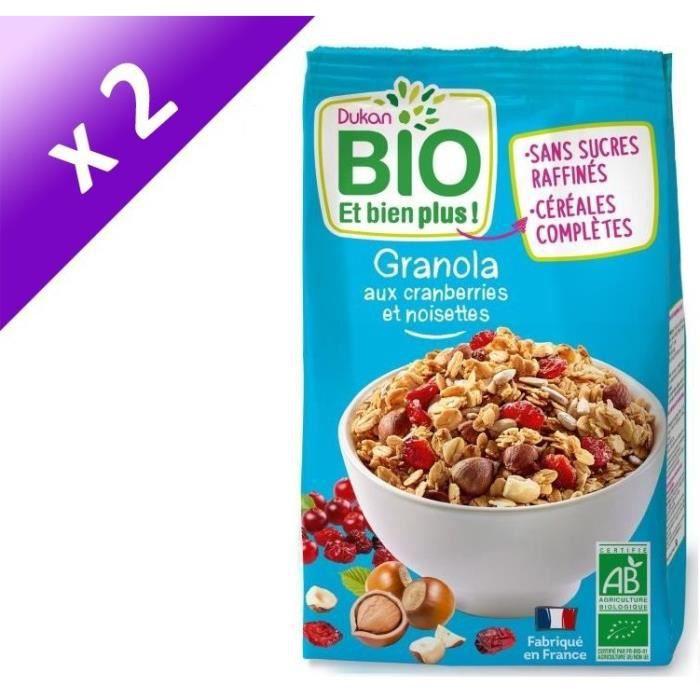 [LOT DE 2] Granola bio aux cranberries et noisettes 350g