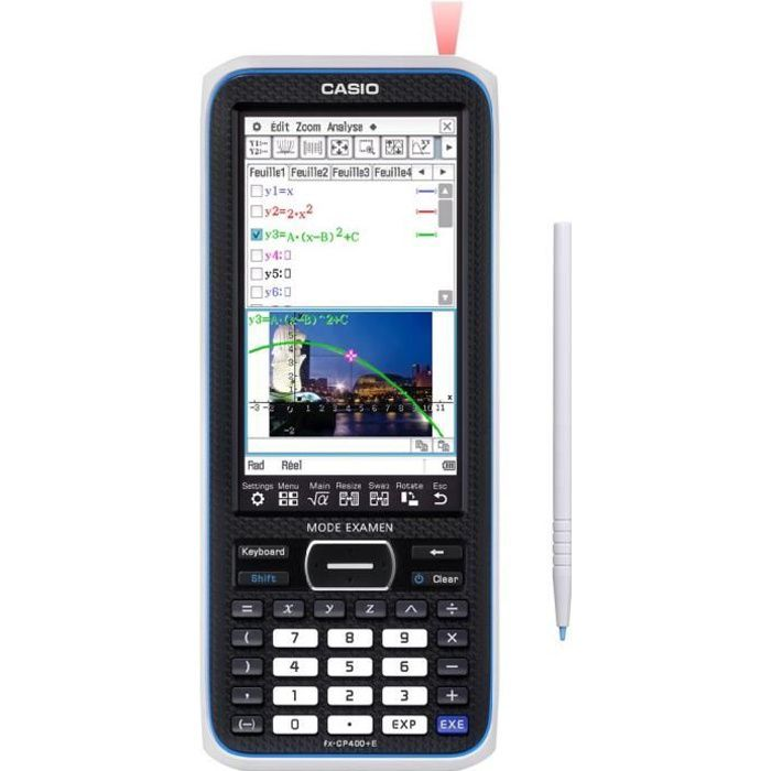 CASIO Calculatrice graphique FX CP 400+E (Mode examen) grise