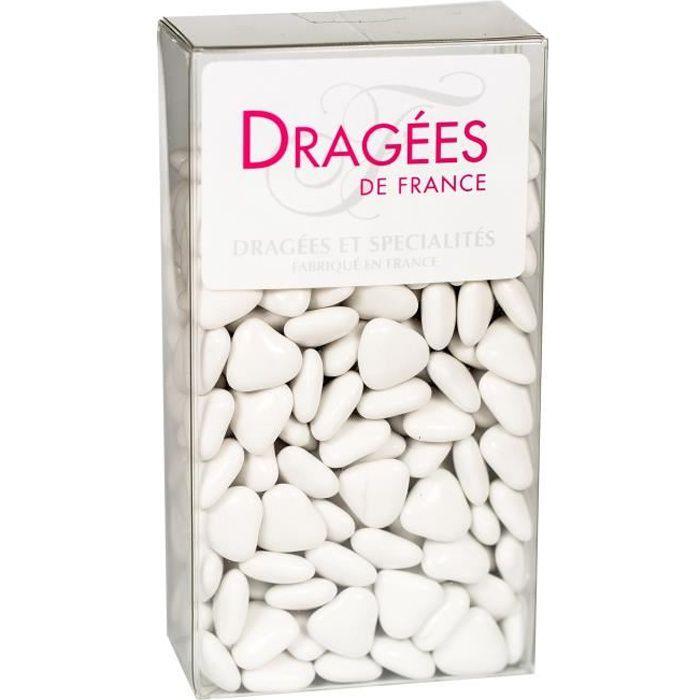 DRAGEES DE France - Petits Cœurs Chocolat - Blanc 250G