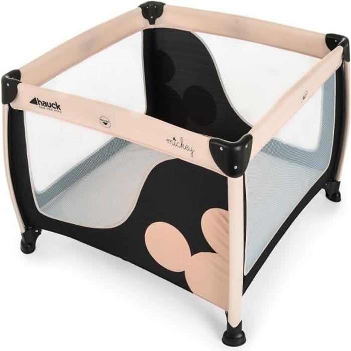 MICKEY lit 3 en 1 :lit d'appoint / parapluie / parc Play N Relax Square - Disney Baby