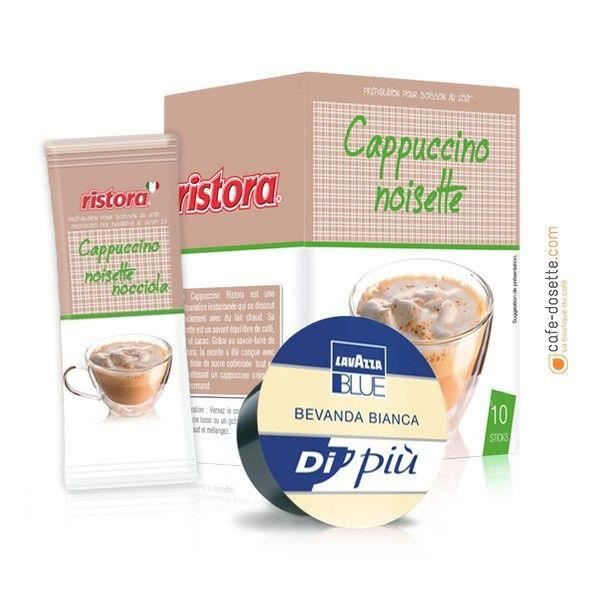 Kit Lavazza Blue Cappuccino Noisette + Lait (x50) U