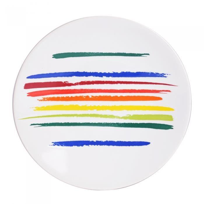 Assiette à dessert Ruban 21 cm Little Marcel (Lot de 6) NEURE Multicolore