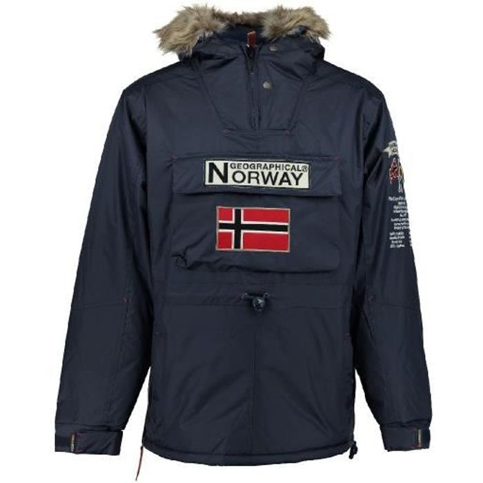 Parka passe-t�te Homme Geographical Norway Boomerang Marine