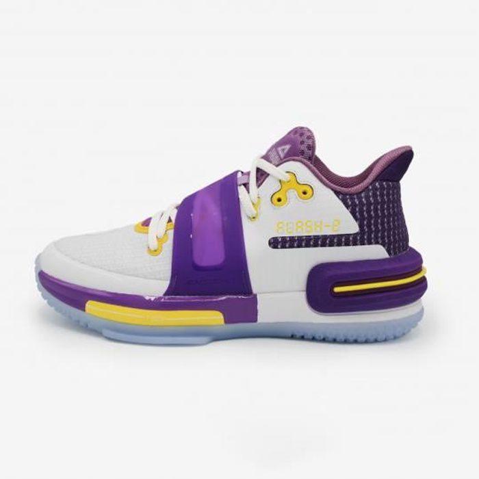 Chaussures de basketball Peak Flash 2 PC - blanc/violet/jaune - 43