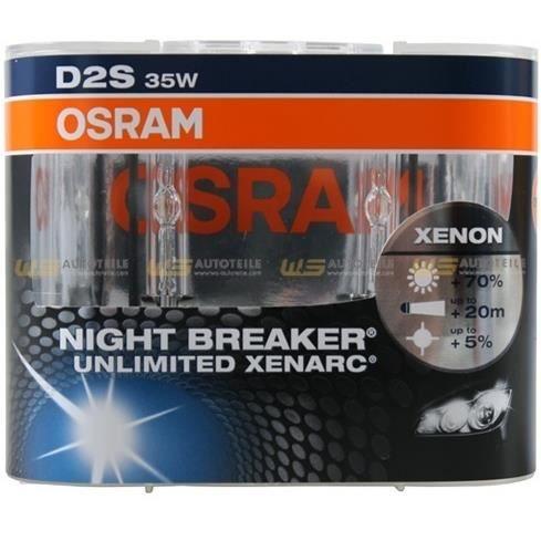 KIT DE 2 AMPOULE XENON D2S OSRAM NIGHTBREAKER +70%