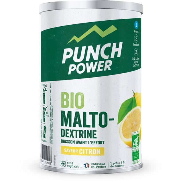 PUNCH POWER BIOMALTODEXTRINE CITRON ANTIOXYDANT - POT 500 G