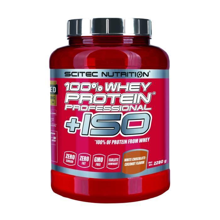 100% Whey Proteine Professional +ISO 2280g CHOCO BLANC COCO Scitec