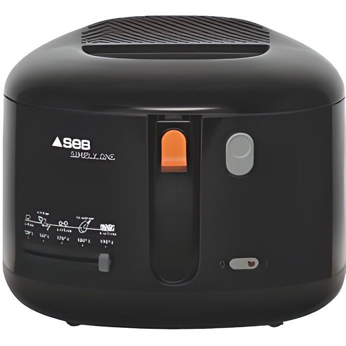 Seb FF160800 Simply One Friteuse Compacte avec Thermostat Noir