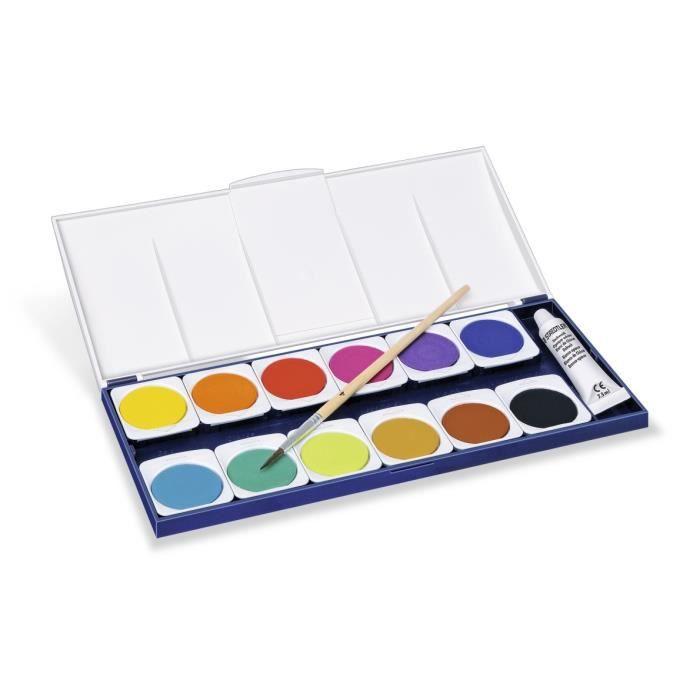 STAEDTLER Peinture 12 Pastilles + Pinceau