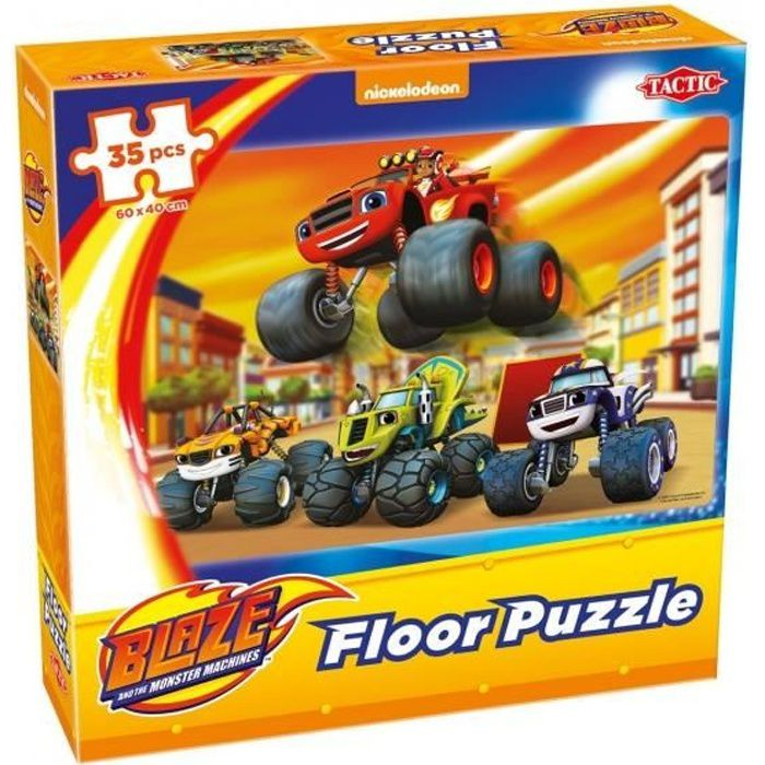 Tactic puzzle de sol Nickelodeon Blaze 60 x 40 cm 35-pièces