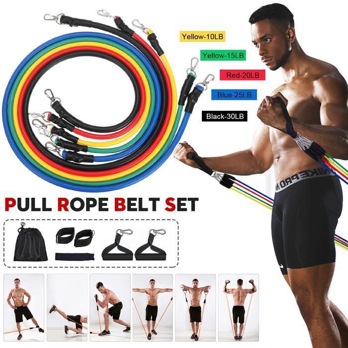 TEMPSA 11 en 1 Bande de Résistance Exercices Musculaires Formation de Force