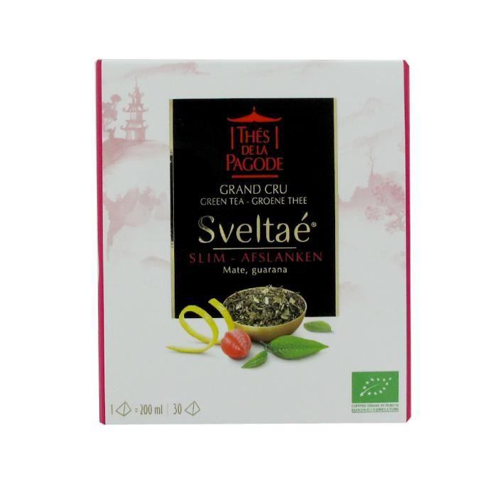 Thés de la Pagode thé vert grand cru Sveltaé Minceur bio 30 sachets