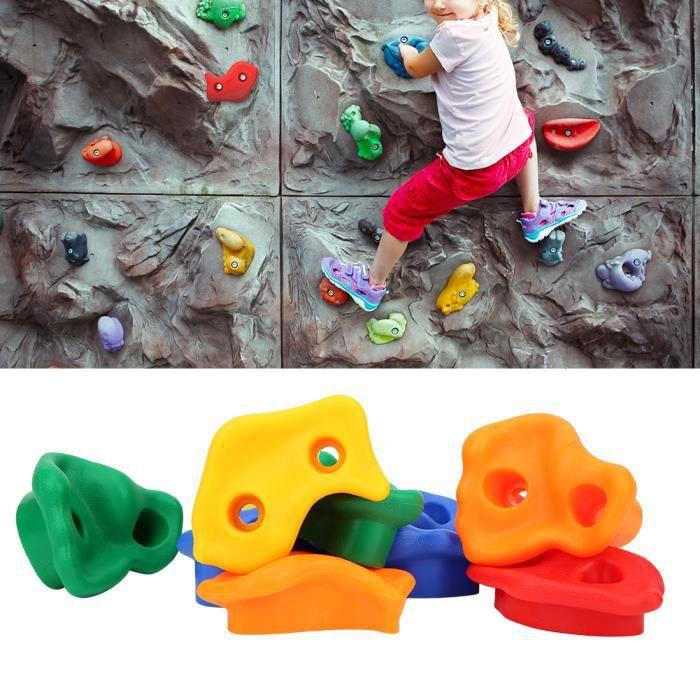 TMISHION Le mur d'escalade d'enfants tient ensemble l'accessoire pratique coloré d'équipement de terrain de jeu-SPR