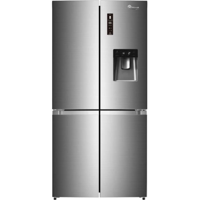 TRIOMPH TTW430NFS - Réfrigérateur Multiportes - 429L (296 + 133) - No Frost - L 86 x H 185 cm - Silver