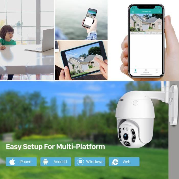 Camera IP Wifi Videosurveillance Exterieur Motorise FHD Audio IP66, Modele: 1080P 2MB 32GB