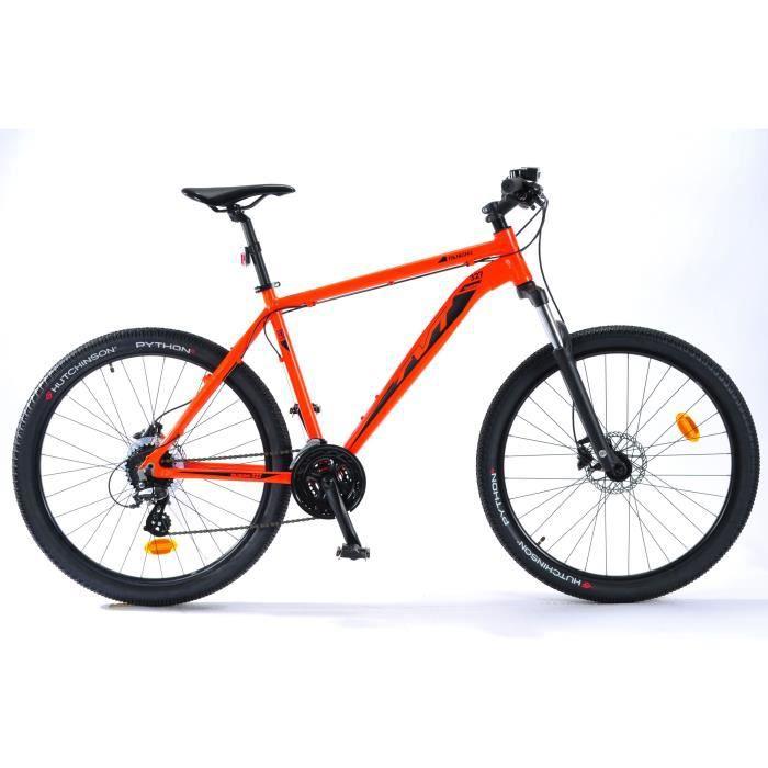 TVT VTT Ranking 327 27,5--24 vitesses-Freins à disques hydrauliques-Cadre alu-Homme-Rouge orange fluo