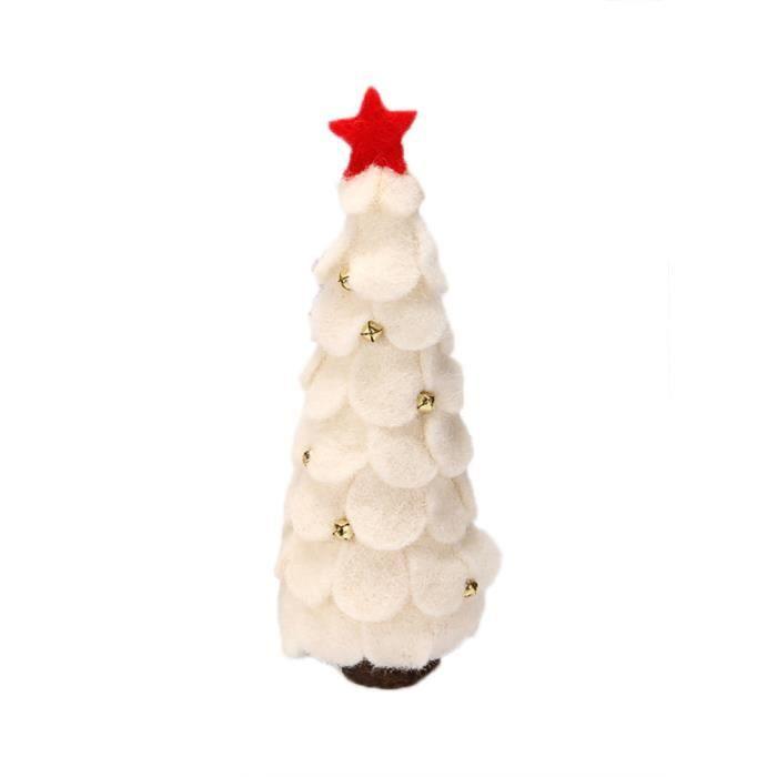 6 X Mignon En Bois Blanc Renne Suspendu Décorations Pour Arbres De Noël Avec Cloches