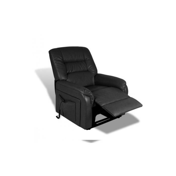 fauteuil de relaxation lectrique relevable noir achat. Black Bedroom Furniture Sets. Home Design Ideas