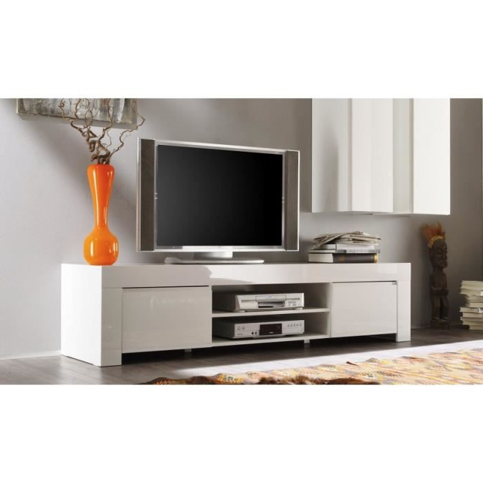meuble tv laqu 190cm panamera couleur blanc achat vente meuble tv meuble tv laqu 190cm. Black Bedroom Furniture Sets. Home Design Ideas