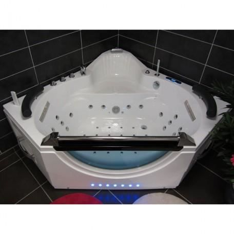 Amazonia baignoire baln o d 39 angle whirlpool 44 jets massage des cervicale - Baignoire d angle discount ...