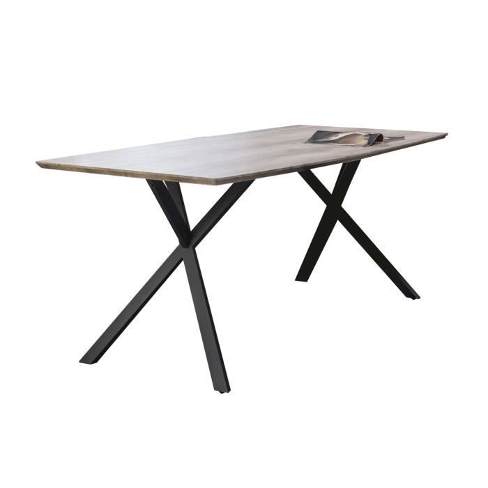 Table manger forme tonneau 160x90cm pi tement m tal for Pietement table metal