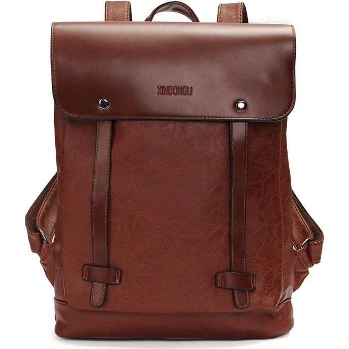 Grand en cuir véritable sac à dos Sac à dos Sac de voyage pour Hommes et Femmes # 1
