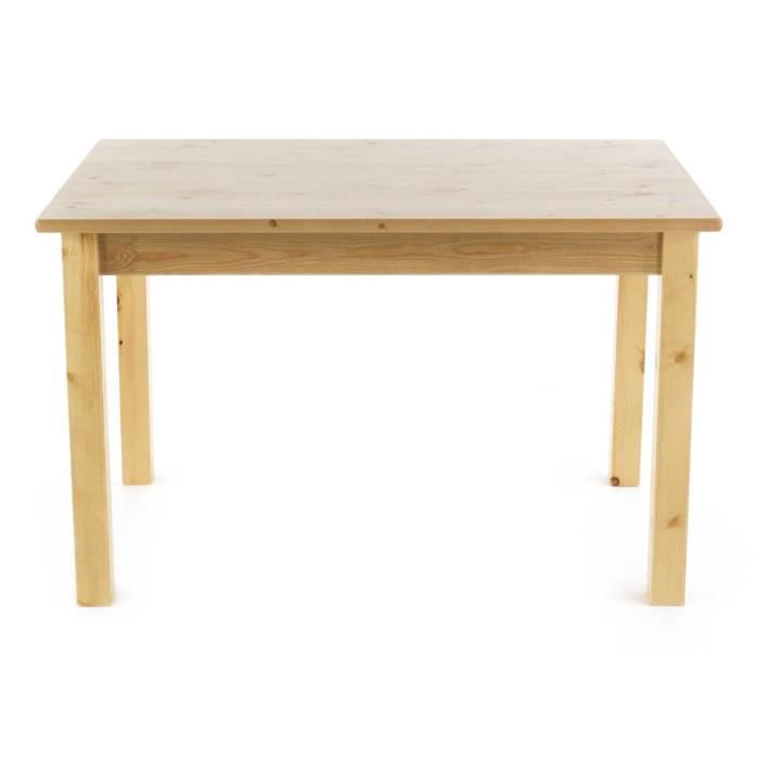 Table Repas Pin Massif 120 X 80 Cm Pays Achat Vente Table A Manger Seule Table Repas Pin