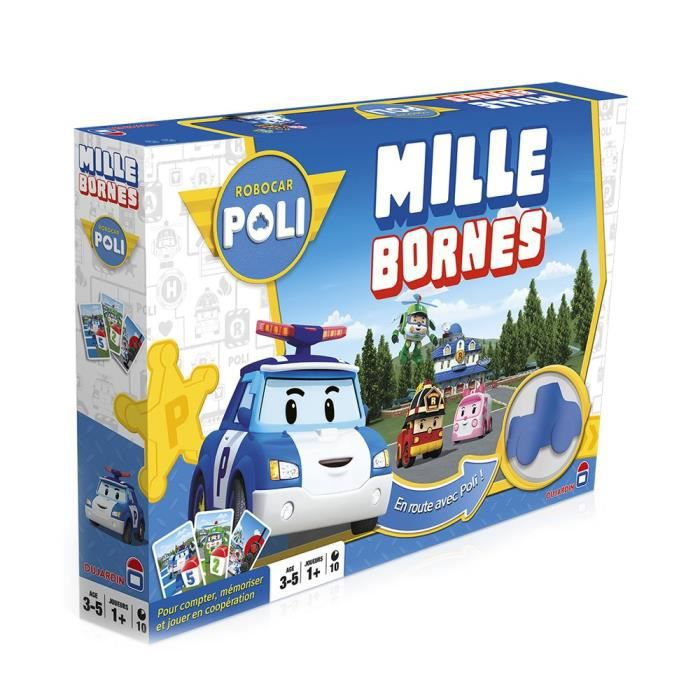 robocar poli mille bornes jeu de soci t achat vente jeu soci t plateau cdiscount. Black Bedroom Furniture Sets. Home Design Ideas