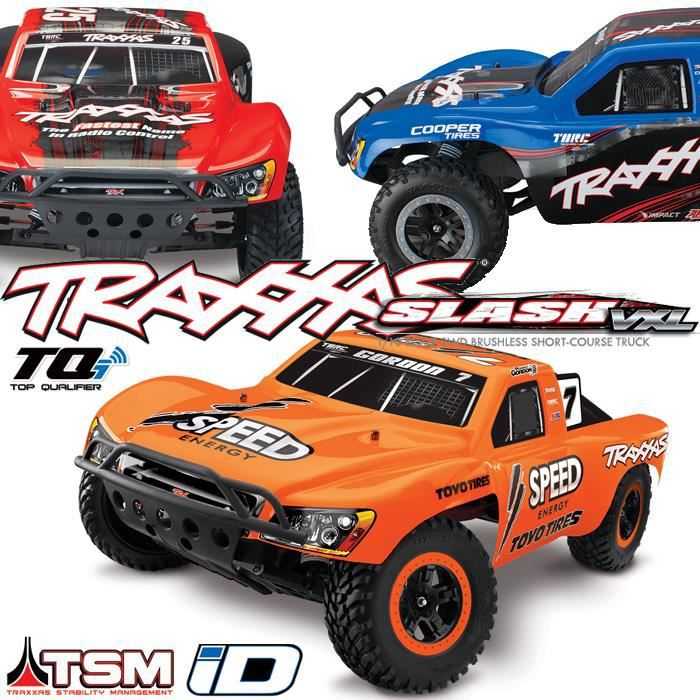 slash vxl rc short course 4x2 voiture radiocommand e 1 10 brushless wireless id tsm. Black Bedroom Furniture Sets. Home Design Ideas