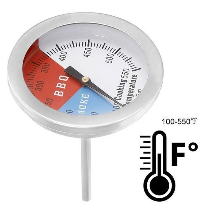 "3/"" Barbecue Pit Grill thermomètre cuisson Cadran Temp Gauge fumeur 550 F Température"