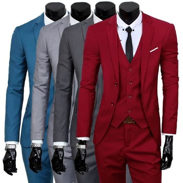 costume homme 3 pieces mariage tenue de soir e f te blazer veste homme rouge achat vente. Black Bedroom Furniture Sets. Home Design Ideas