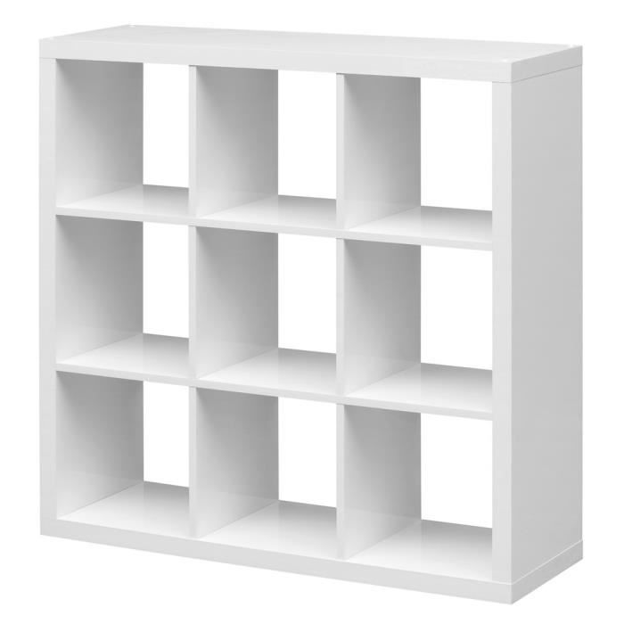 etag re cube szene 9 blanc achat vente meuble tag re. Black Bedroom Furniture Sets. Home Design Ideas