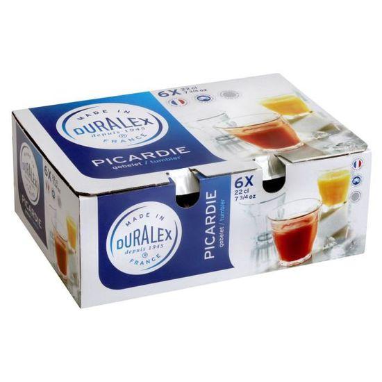 Pack de 6 Gobelets 50Cl Prisme Transparent Duralex