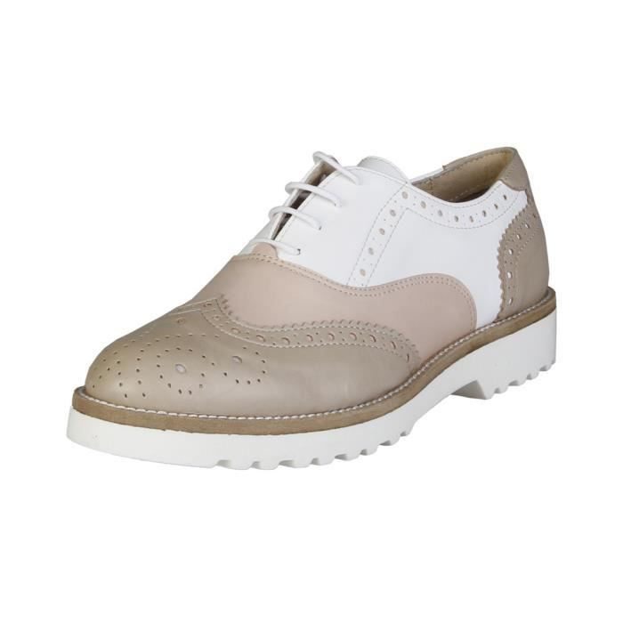 Made in Italia - Chaussures à lacet pour femme (NILDE_TAUPE_PESCA_BIANCO) - Brun