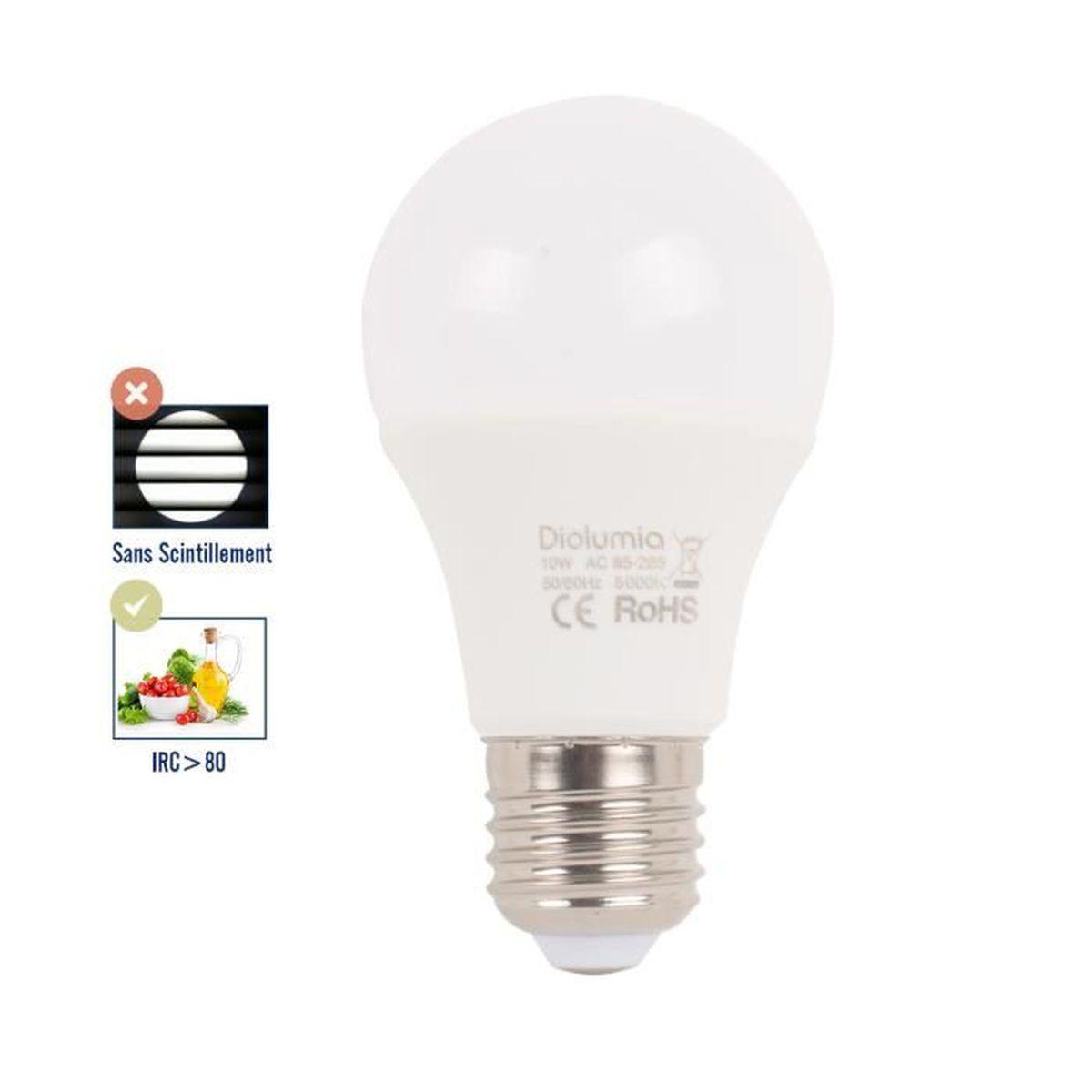 Mes Ampoules Led Scintillent ampoule led e27 10w - 5000k blanc lumière du jour - equivalent 80w - 900lm  [classe énergétique a+]