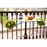 TABLE BASSE JARDIN  FINLANDEK - Table balcon rabattable GRIS - HIENO