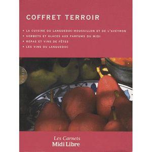 LIVRE CUISINE RÉGION Coffret terroir 4 tomes : La cuisine du Languedoc-